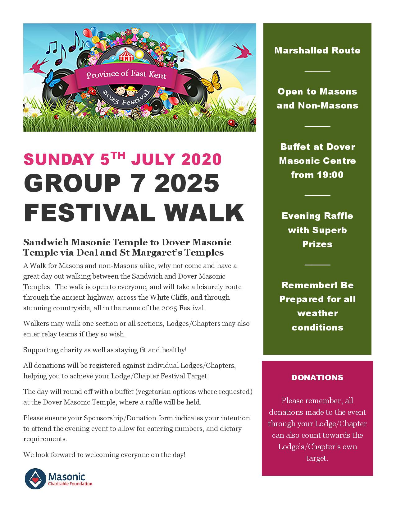 Poster advertising the Group 7 walk